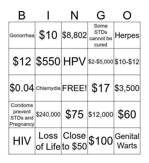 Conraception  Bingo Card