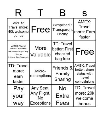 RTBINGO Card