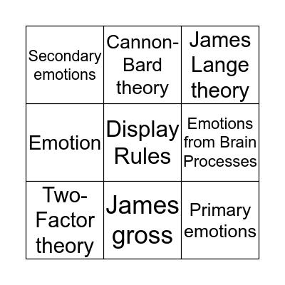 Chapter 9.7 - 9.14 Bingo Card