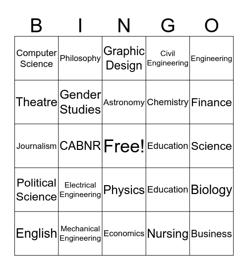Bang Bingo Card