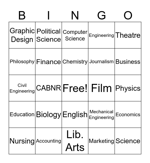 Bang Bingo Card