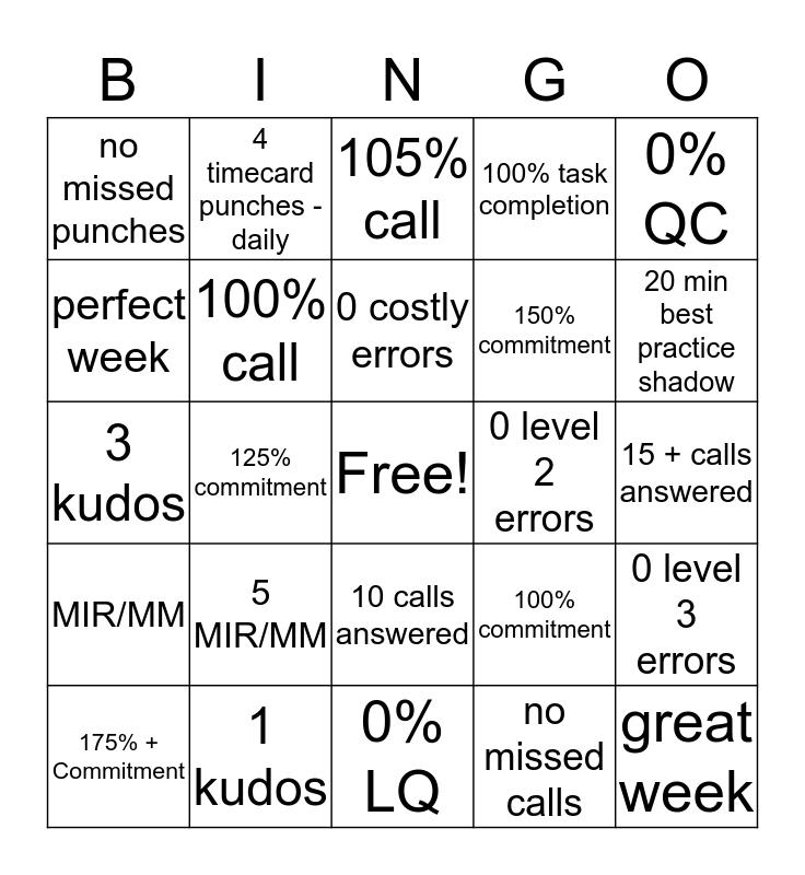CofC BINGO! Bingo Card