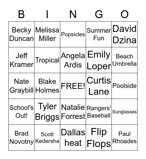 Watermark BINGO - May Birthdays Bingo Card