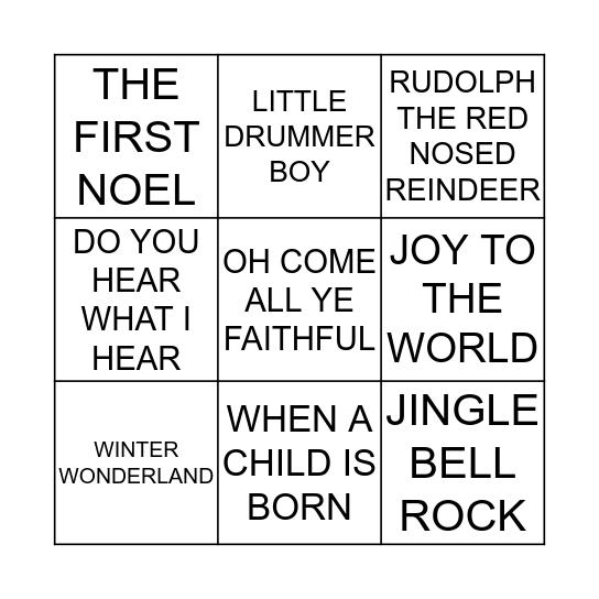 XMAS - SINGO Bingo Card