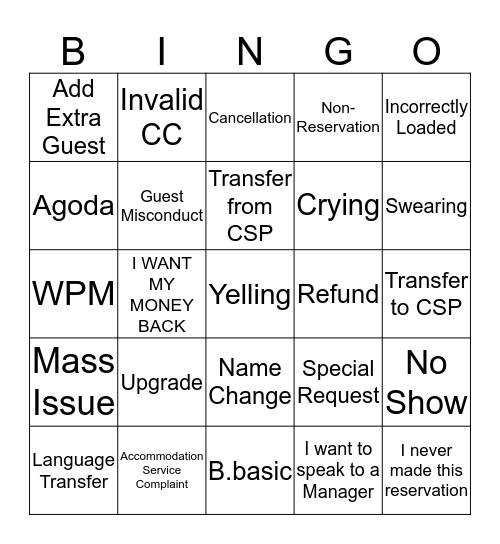 Phone Bingo Card