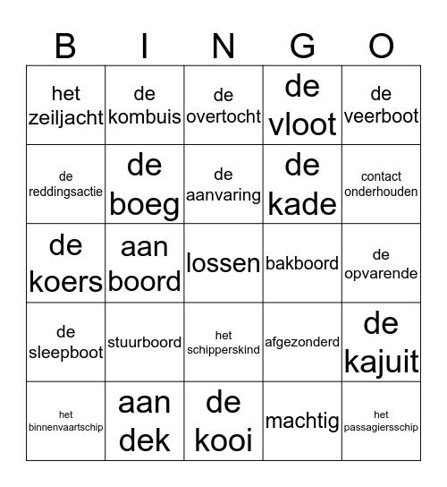 ZeebenenBingo! Bingo Card