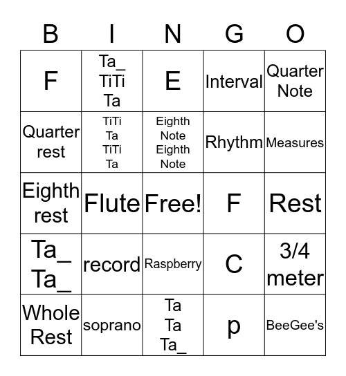 4th Grade BINGO Review Bingo Card