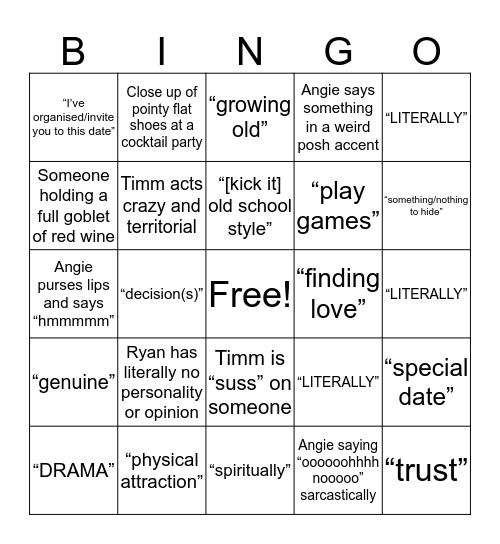 BINGOLORETTE Bingo Card
