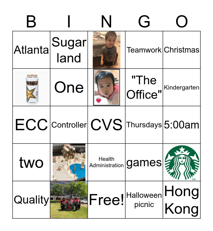 """How well do you know Kathy"" Bingo Card"