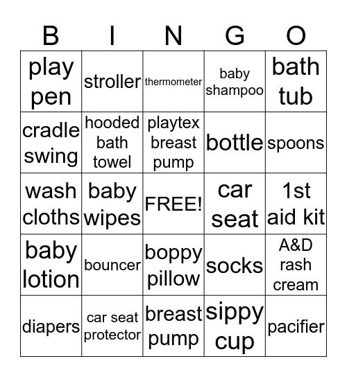 Terry's Baby Essential Bingo Card