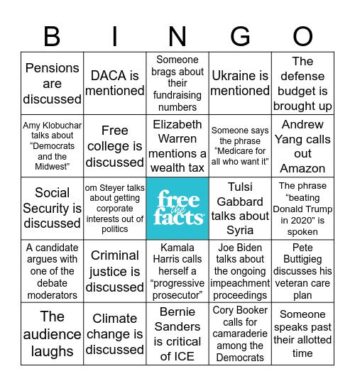 DEMOCRATIC PRIMARY FOUR WATCH PARTY Bingo Card