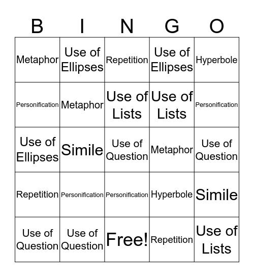 Writer's Craft BINGO C Bingo Card
