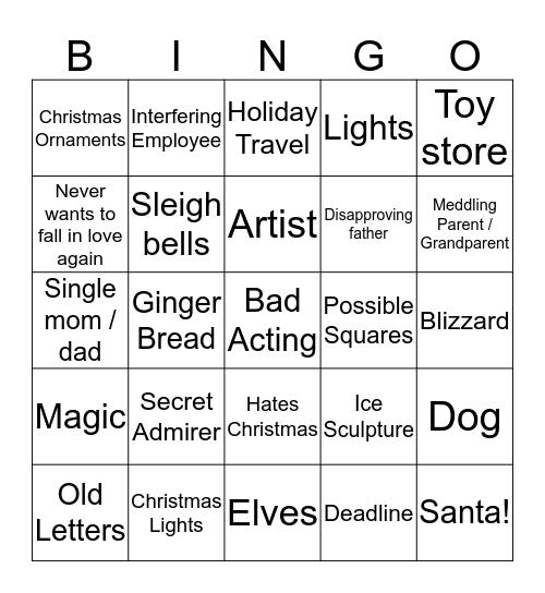 Hallmark Christmas Movies Bingo Card