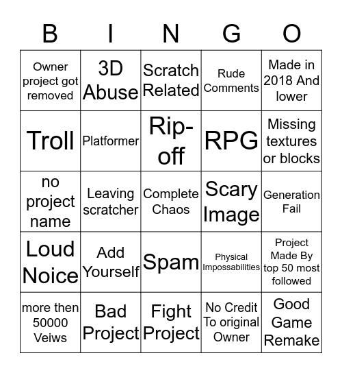 Scratch Bingo Card