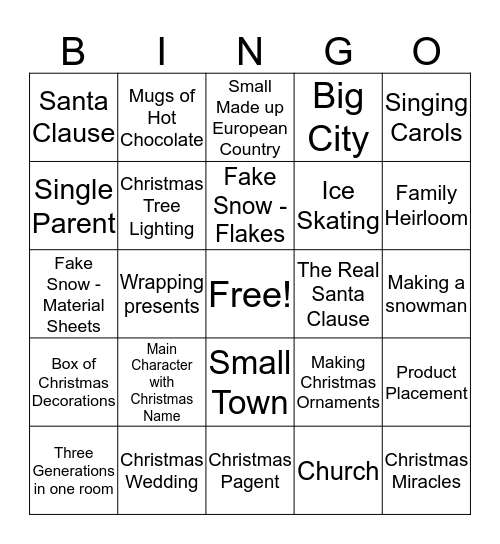 Hallmark Bing Bingo Card