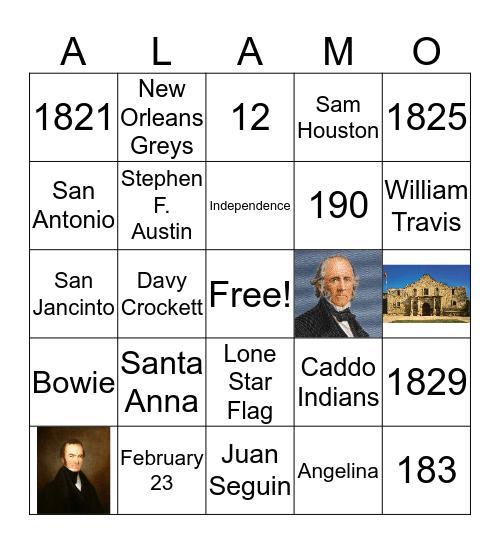 Alamo Bingo Card