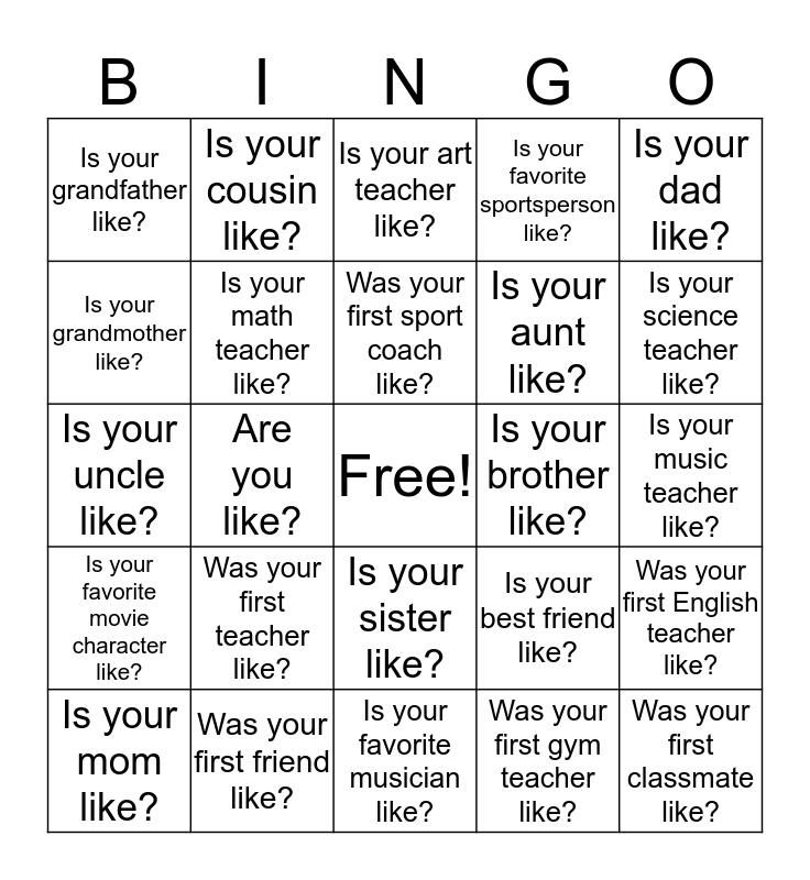 What___________? Bingo Card