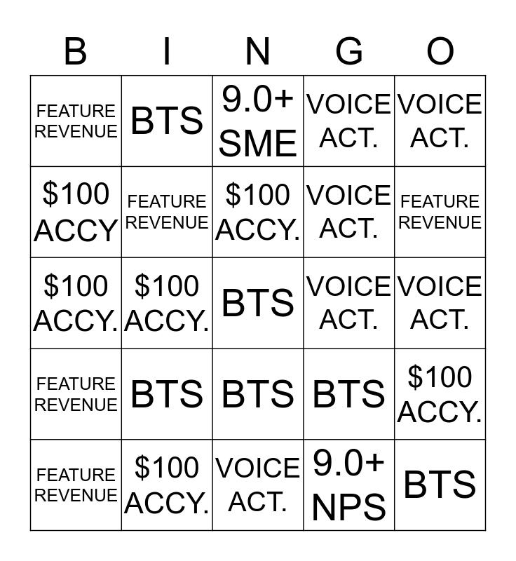 November 21- 30 Bingo Card