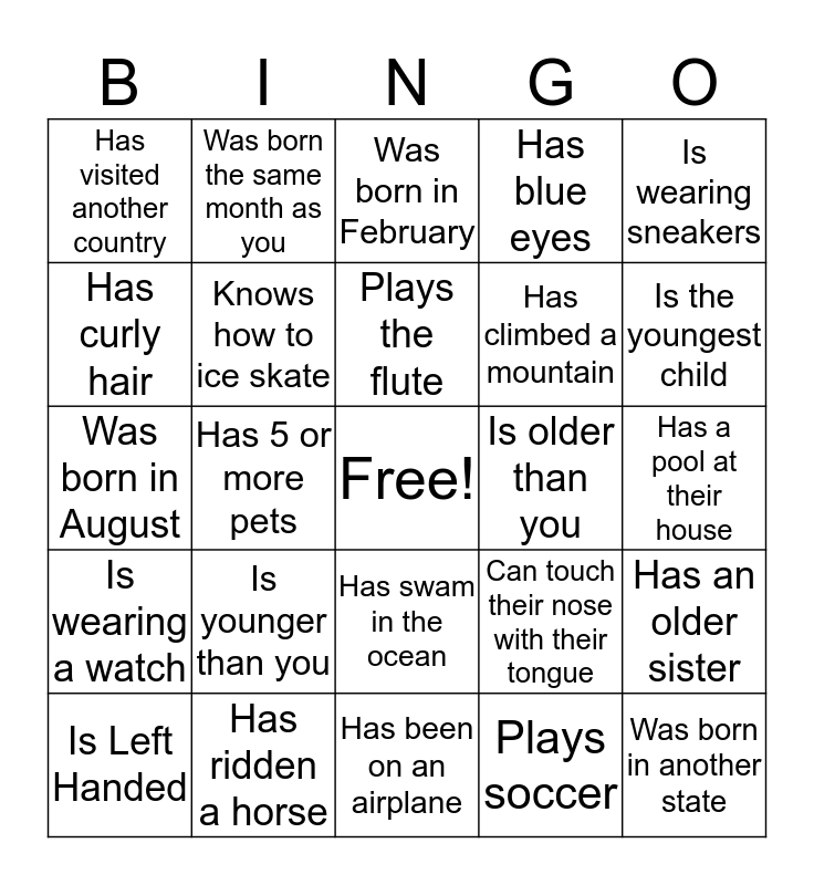 Girl Scout Bingo... find someone who: Bingo Card