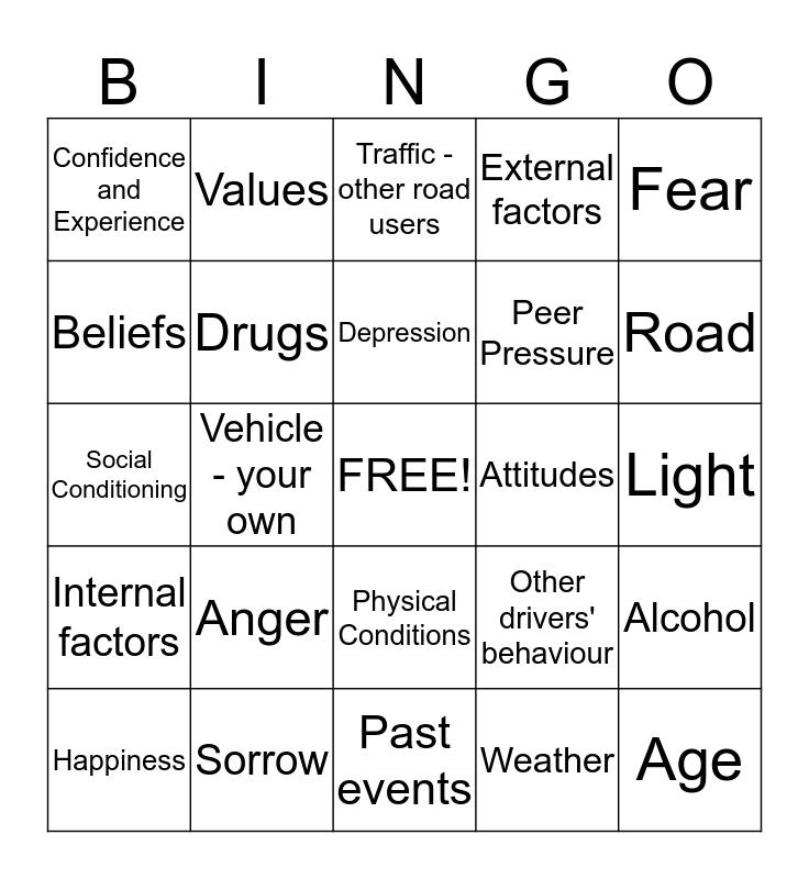 Unit 3472 Bingo Card
