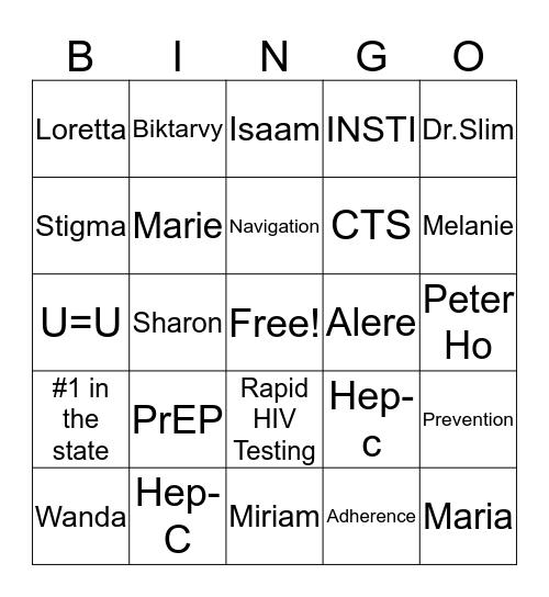 CTS- Bingo Card
