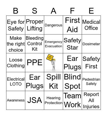 Safety Buck Bingo Card