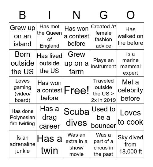 Tech Offsite IV Bingo Card