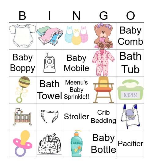 Baby Sprinkle Bingo Card