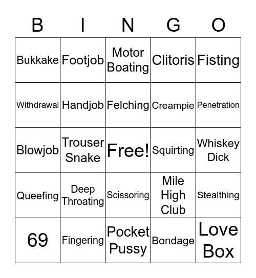 Sex Toy Bingo Card