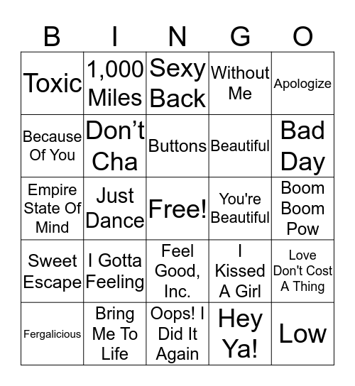 2000-2009 Bingo Card