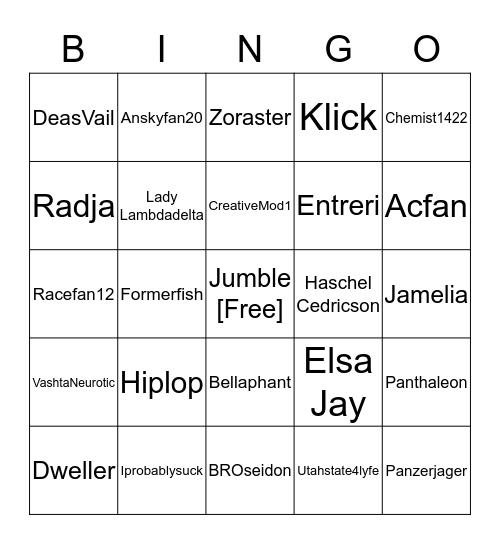 The Real Bingo Was Inside Us All Along Bingo Card