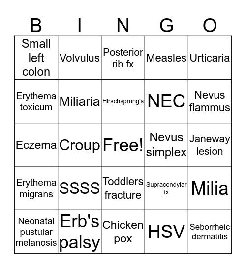Images Bingo Card