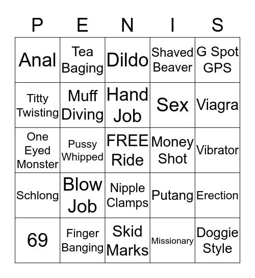 Penis Bingo Card