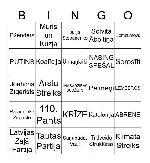 PROGRESĪVO NĀVES Bingo Card