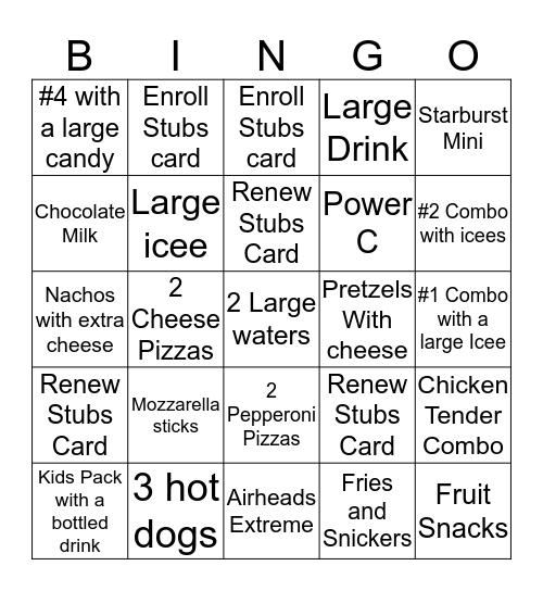 Newport Bingo Card