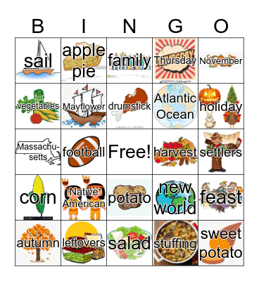 Thanksgiving! Bingo Card