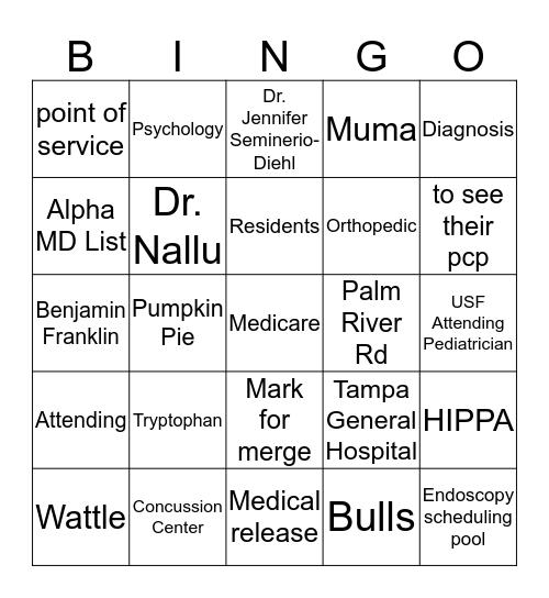 Gobble till you WOBBLE  Bingo Card