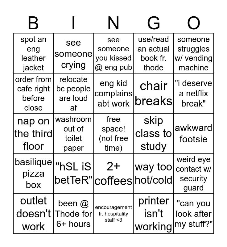 Thode Bingo Card