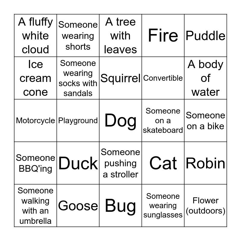 SELFIE SCAVENGER HUNT! Bingo Card