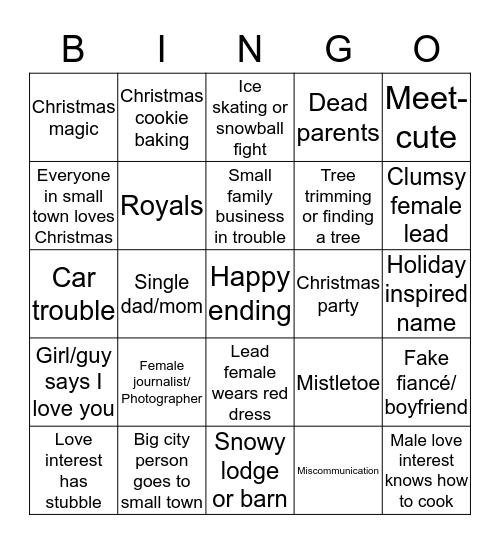 Hallmark Christmas Bingo! Bingo Card