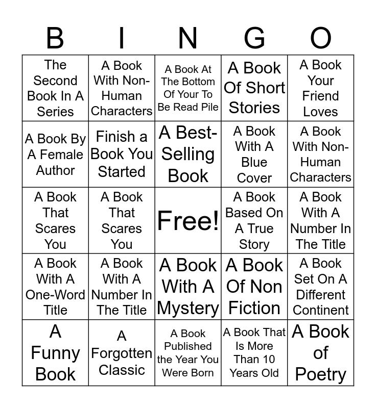 Reading Bingo Card