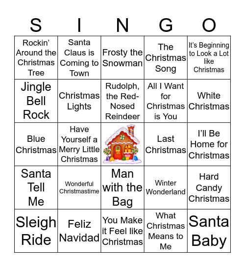 Christmas Music Singo Bingo Card
