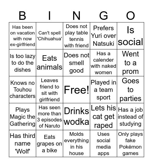 Gai Bingo Card