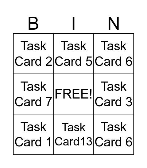 Main Idea Bingo Card