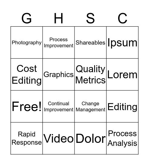 GHSCO OFC Communications & Design/QMU Bingo Card