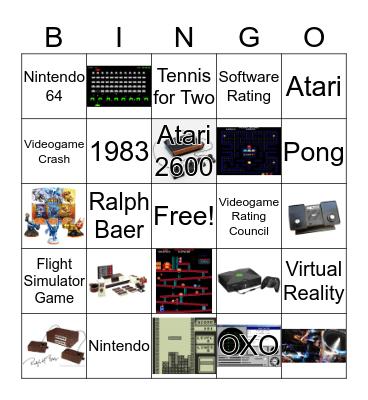 Video Game History Bingo Card