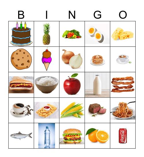Comida Bingo Card