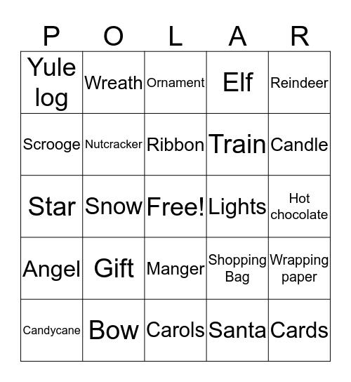 Polar Express Bingo  Bingo Card