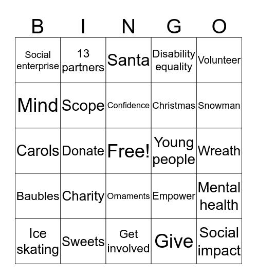 Happy Holidays! Bingo Card