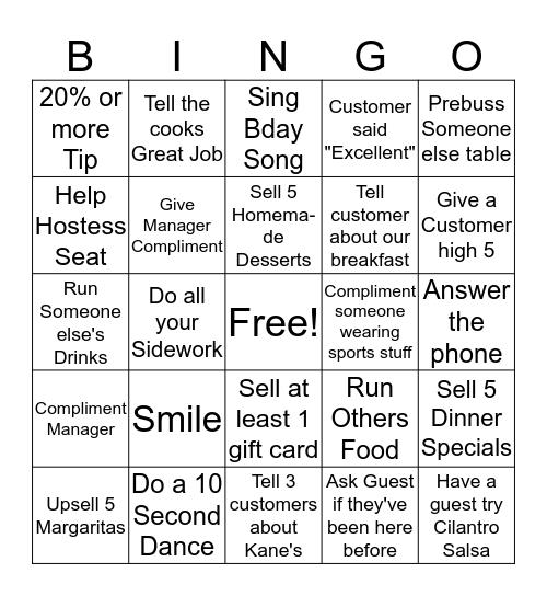 Maria's Bingo  Bingo Card